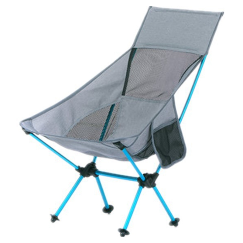 ABSF Fishing Chair Lightweight Collapsible Travel Chair Foldable Beach Chair Ultralight Portable Folding Camping Chair