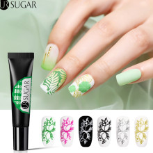UR SUGAR 8ml Nail Stamping Gel Polish Black White Art Stamp Print UV Varnish Soak Off Lacquer for Plate