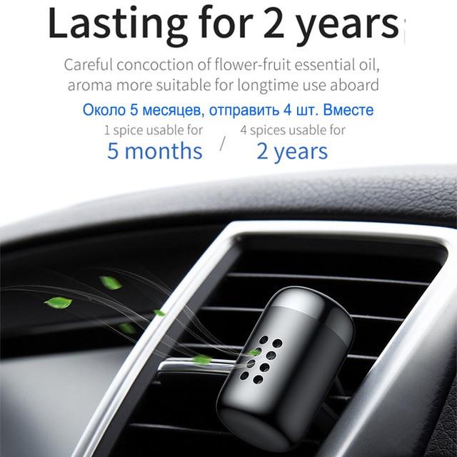 Parfum d'ambiance de voiture Baseus aromathérapie sortie d'air automatique parfum de voiture longue durée diffuseur d'agrafe de parfum parfum de voiture solide 4
