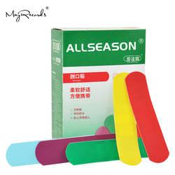 Бесплатная доставка 150 шт./3 коробки водонепроницаемые 1,9 см X 7,6 см красочные клейкие повязки лента помощь аптечка для выживания домашнего