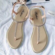 2020 nowych kobiet buty w kształcie litery T klip sandały płaska podeszwa płaski obcas galaretki buty kobiece rzymskie sandały klapki plażowe kobiet