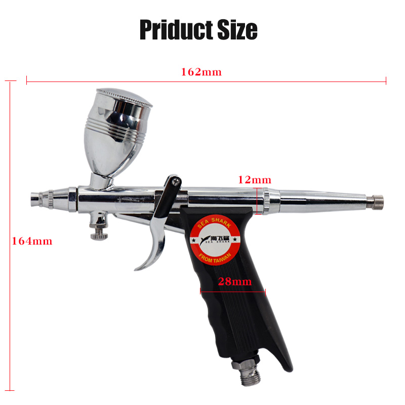Air Spray Brush Gun Pneumatic Mini Paint Spray Gun Tool 0 3 0 5mm Nozzle AirBrush Pen for Car Commercial Painting Toolbox in Spray Guns from Tools
