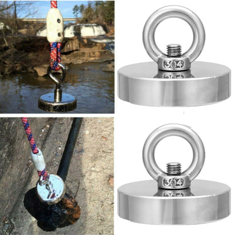 Salvage Magnet Pot Fishing Magnets Deep Sea Hook Neodymium Magnet Holder Strong