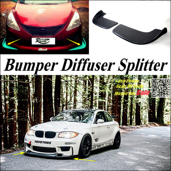 Car Splitter Diffuser Bumper Canard Lip For BMW 1 M1 E87 E81 E82 E83 F20 F21 Tuning Body Kit / Front Fin Chin Car Reduce Body image