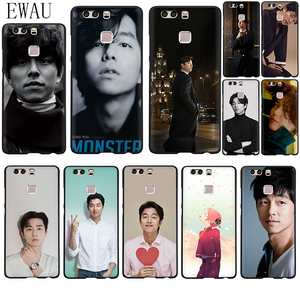 EWAU Gong Yoo Lovely Soft Silicone phone case for Huawei P8 P9 P10 P20 P30 P40 Lite Pro P Smart Z plus