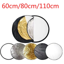 Sjd 5 In 1 Multiple Photography Background Reflector Studio Round Foldable Accessories Photo Props Handheld Portable Backdrop