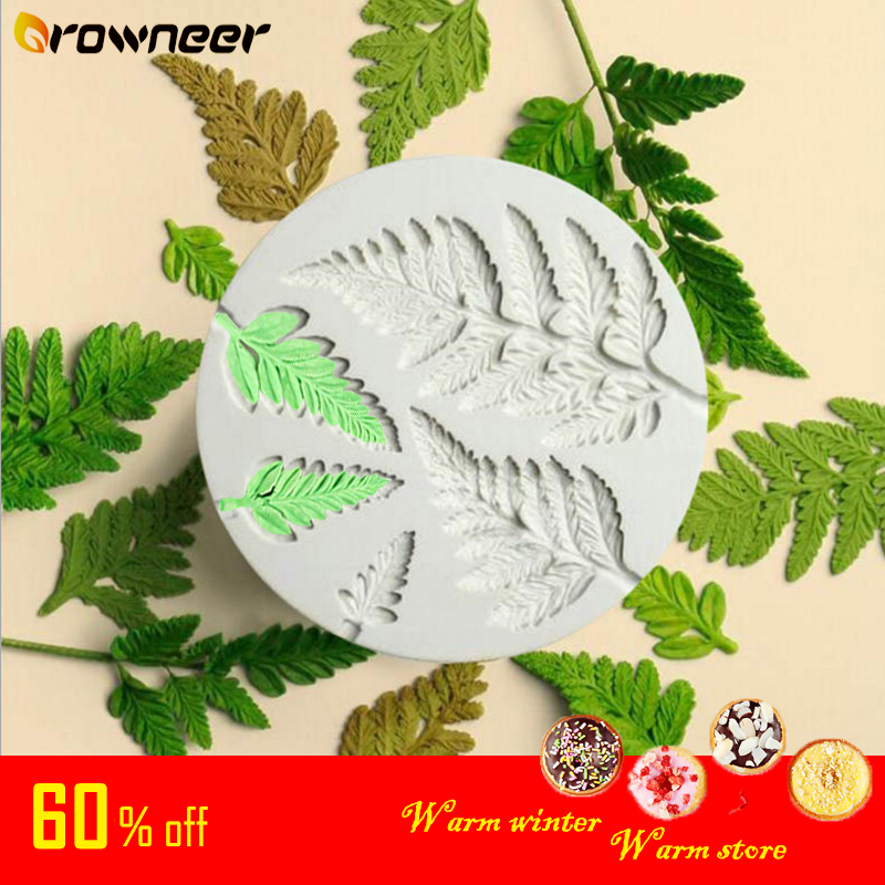 Leaf Silicone Mold 3D Sugarcraft Fondant Mould Chocolate Baking Decorating Tool White Strong Ductility Candy Cake Mold