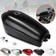 Бак для топлива и газа для мотоцикла, 9 л, 2,4 Галл, винтажный, с шапкой для Honda CG125
