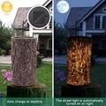 Садовый декоративный светильник-пень на солнечной батарее  для двора  патио  сада  дороги  кемпинга