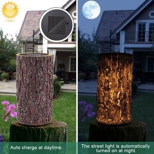 Садовый декоративный светильник-пень на солнечной батарее, для двора, патио, сада, дороги, кемпинга