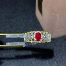 Anillo de rubí CoLife, joyería Vintage para uso diario, 4x6mm, anillo de plata de rubí Natural, joyería de rubí de plata 925, regalo para mujer