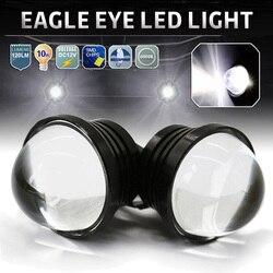 SUHU 2Pcs Eagle Eye 6000K LED Light 12V DRL Daytime Running Light Tail Lights Bulbs Backup Light DIY Car Motor Motorcycle Lamps