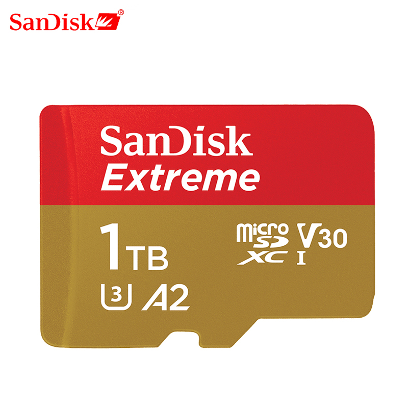 SanDisk Micro SD Card 1TB Read Speed UP to160M/s Memory Card Extreme Micro SD TF Card U3 V30 Support 4K for gopro DJI drone 1