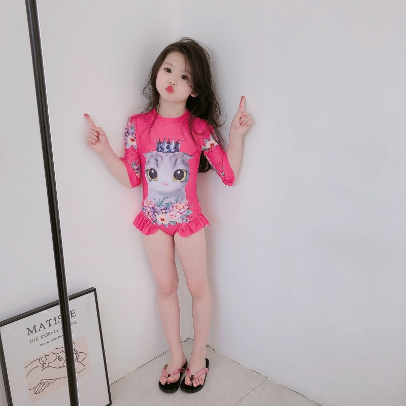 2020 Cute Kitten Kids Baby Girls Sleeveless Korea Style Cream Fruit Outfits Summer Beachwear Clothes Overall Jumpsut One Peice