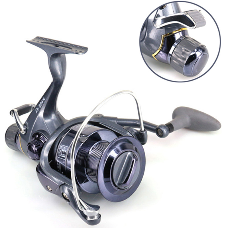 2019 New Front Rear Double Brake Max 8+3 KG Drag 5.5:1 Super Strong Dual High Low Speed Carp Feeder Spinning Fishing Reel wheel