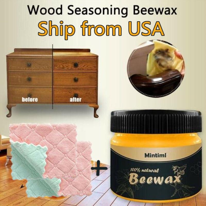 Wood Seasoning Beewax Complete Solution Furniture Natural Wooden Furniture Refurbishment Beeswax Home Cleaning Polishing Wax