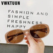 VWKTUUN Oval Vintage Sunglasses Women Colorful Points Candy Color Frame Sun glasses For Outdoor Shades UV400 Eyewear