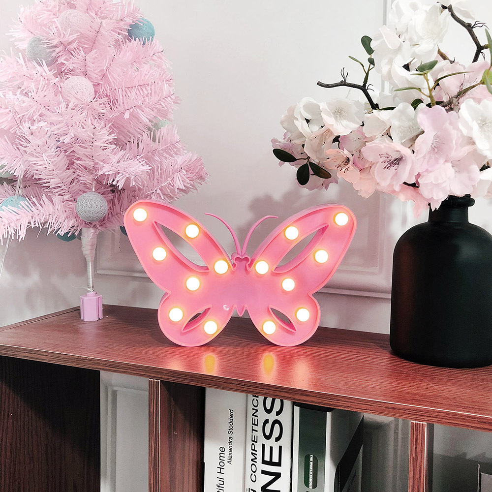 Girl's Heart LED Butterfly Shaped Room Arrangement Props Gifts Gifts Night Lights Christmas