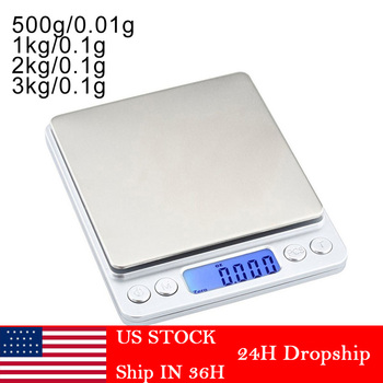0.01/0.1g Precision LCD Digital Scales 500g/1/2/3kg Mini Electronic Grams Weight Balance Scale for Tea Baking Weighing Scale image