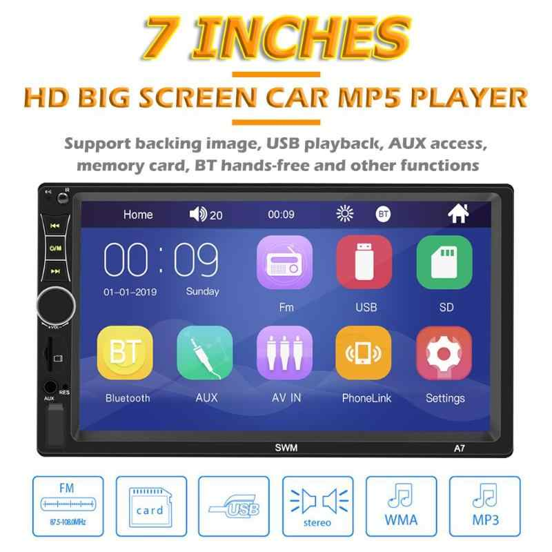 Swm A7 2 Din Auto Stereo 7 Inch Touch Screen Bluetoooth Aux U Disk Radio