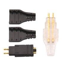 5 пар DIY штекерный разъем для наушников мини разъем для Sennheiser DIY HD414 HD565 HD580 HD600 HD650 позолоченный штекерный разъем