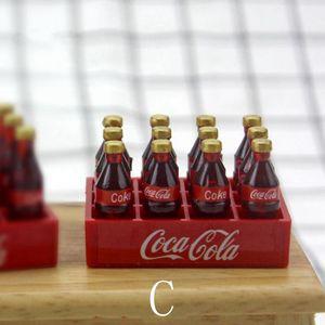 Image 4 - 1 세트 12pcs 미니 콜라 음료 1/12 dollhouse 소형 음식 인형 음료 놀이 주방 장난감 맞추기 ob11 액세서리