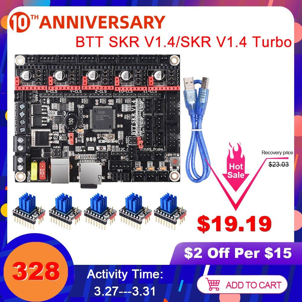 BIGTREETECH SKR V1.4 Control Board/BTT SKR V1.4 Turbo 32 Bit 3D Printer Parts SKR V1.3 TMC2208 TMC2209 For Ender 3/5 Mini E3