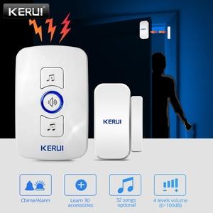 KERUI M525 32 Songs Optional 500ft Door Chime Home Security Welcome Wireless Doorbell Smart Doorbell Alarm LED light