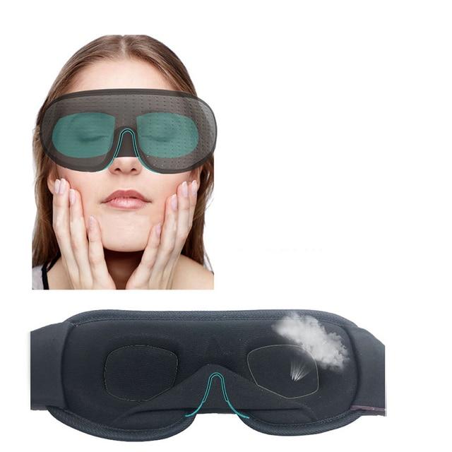 Blocking Light Sleeping Eye Mask Soft Padded Travel Shade Cover Rest Relax Sleeping Blindfold Eye Cover Sleep Mask Eyepatch 3