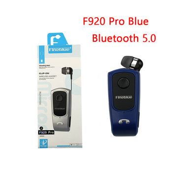 Fineblue F920 Pro Mini Wireless Retractable Portable Bluetooth Headset Calls Remind Vibration Wear Clip Sports Running Earphone 16