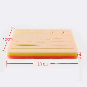 Moduł szwy rany z rany chirurgiczne szwy skóry praktyka podkładka silikonowa moduł szwy symuluje sprzęt operacyjny LPF007 tanie i dobre opinie ENOVO Manekina Nauk medycznych