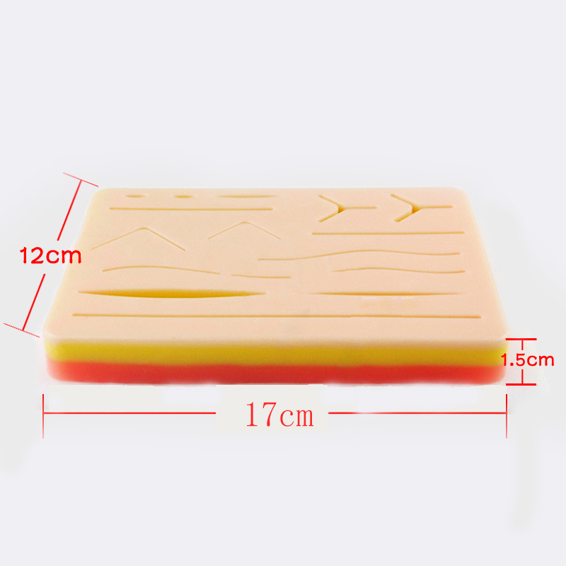 Wound Suture Module With Wound Surgical Skin Suture Practice Silicone Pad Suture Module Simulates Operating Equipment LPF007