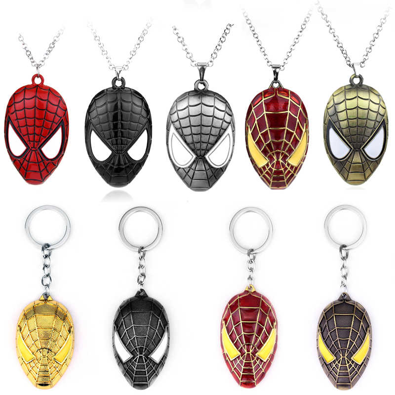 MQCHUN Super Hero Spiderman Pendant Necklace Spider-man Fashion Punk jewelry For Boy Man Kid Party Favors Statement Necklace-30