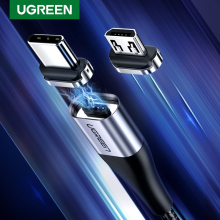 Ugreen Магнитный Micro USB кабель 2.4A кабель передачи данных для быстрой зарядки для samsung huawei Xiaomi LG магнит зарядное устройство мобильный телефон USB шнур
