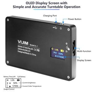 Image 3 - VIJIM VL 1 מיני Led וידאו אור צילום תאורה Vlog 96 חרוזים 3500 k 5700 k עבור טלפון חכם אחד בתוספת DSLR מצלמה Sony A6400