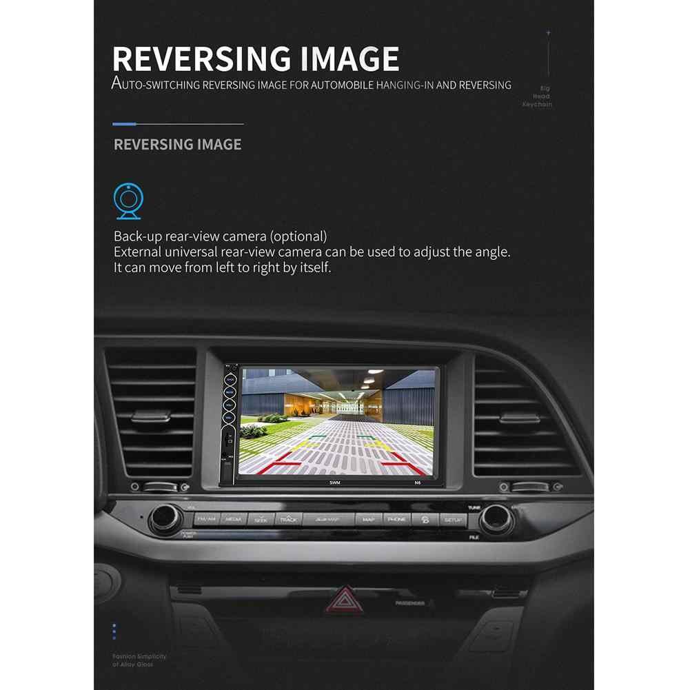 7 אינץ מסך מגע סטריאו רדיו אודיו לרכב רדיו Multimidia MP5 נגן Autoradio Bluetooth fm משדר עם מצלמה היפוך