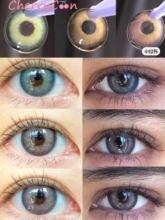 Розовые фиолетовые круглые контактные линзы cherrycon для глаз