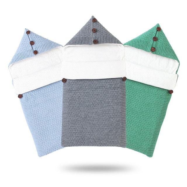 Bé Túi Ngủ Sơ Sinh Bebes Đầm Bọc Đồ Bầu Mùa Đông Ấm Áp Dệt Kim Xe Đẩy Giấc Ngủ Bao Cho Trẻ Sơ Sinh Bé Trai Bé Gái Bao Thư 0 6M