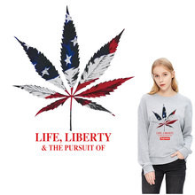 New Canada maple leaf iron patches for clothing thermal stickers girls transfert thermocollants t-shirt dress patch vetement
