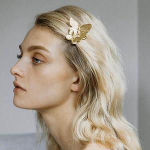 Женская заколка-бабочка Pauli Manfi, летняя, простая, металлическая, в стиле ретро