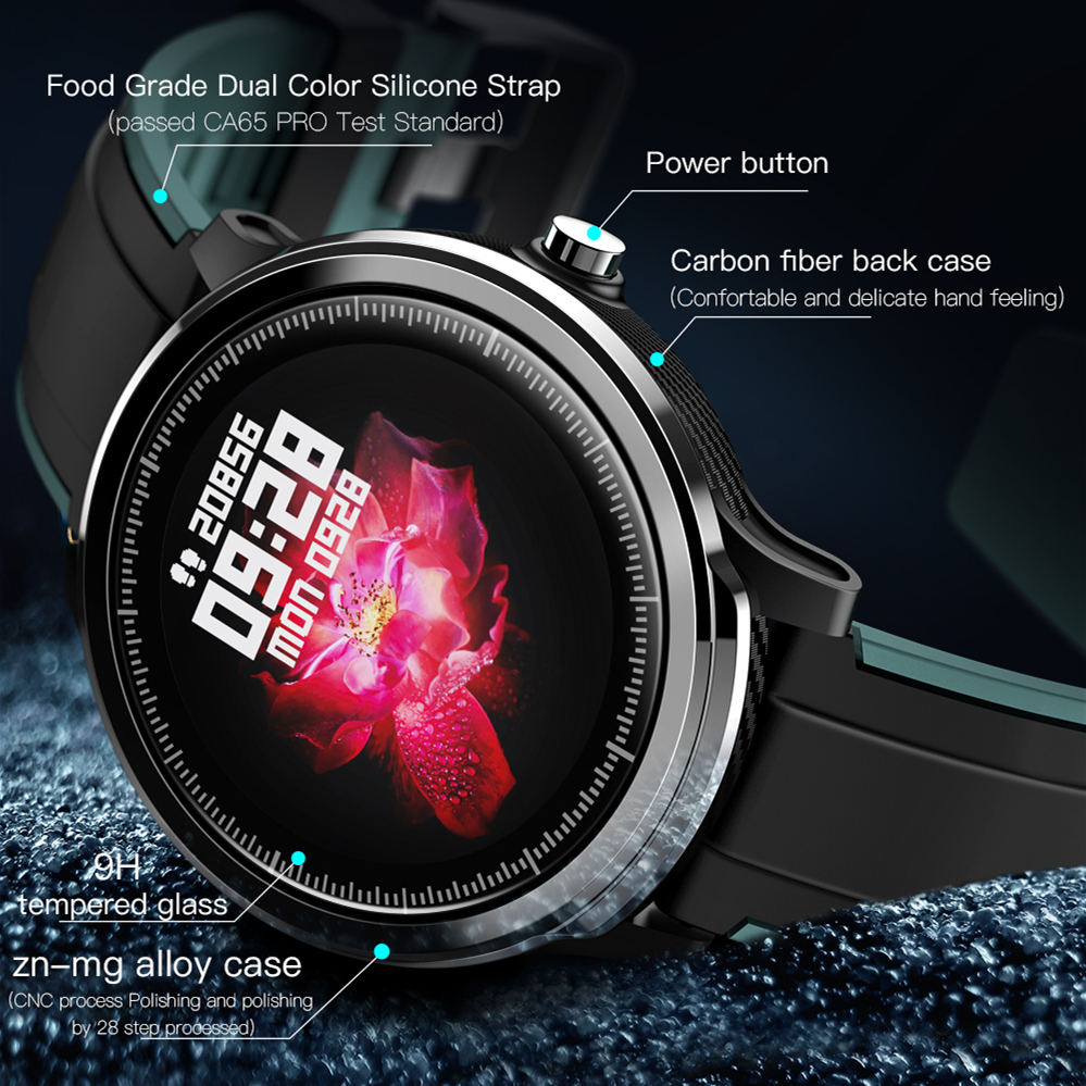 SN80 Bracelet intelligent plein écran tactile montre intelligente moniteur de fréquence cardiaque Fitness étanche Sport Tracker Bracelet smartwatch bande - 2