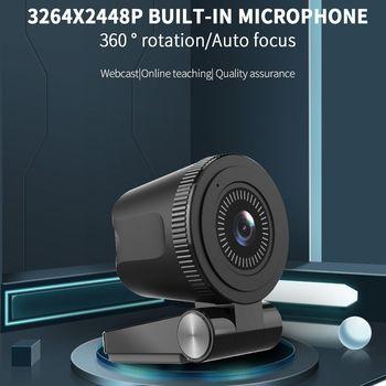 TISHRIC C180 UHD Webcam 4K Autofocus Web Camera with Microphone 800W Pixels Web Cam USB Camera Network for Computer/PC/Laptop 1