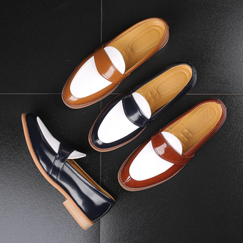 2019 Luxury Business Leather Shoes Party Casual Shoes Slip-on Flat Loafers Mens Formal Dress Shoes Wedding Nightclub Party Shoes