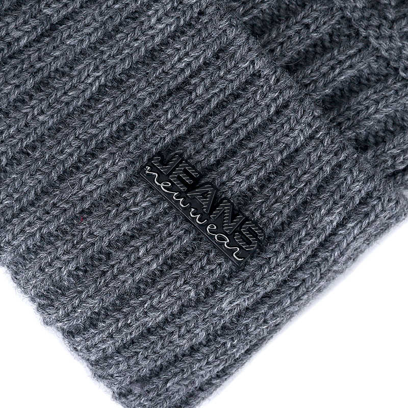 Kualitas Tinggi Jeans Topi Musim Dingin Tambahkan Bulu Hangat Beanies Topi Baggy Tengkorak Rajutan untuk Pria Wanita Ski Olahraga Beanies cap
