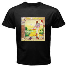 New Elton John Goodbye Yellow Brick Road Men's Black T-Shirt Size S to 3XL summer o neck tee, free shipping cheap tee(China)