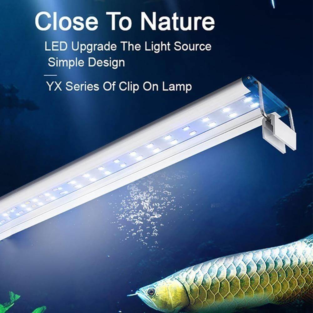 Slim LED Aquarium Light plant Extensible Waterproof Clip On Lamp
