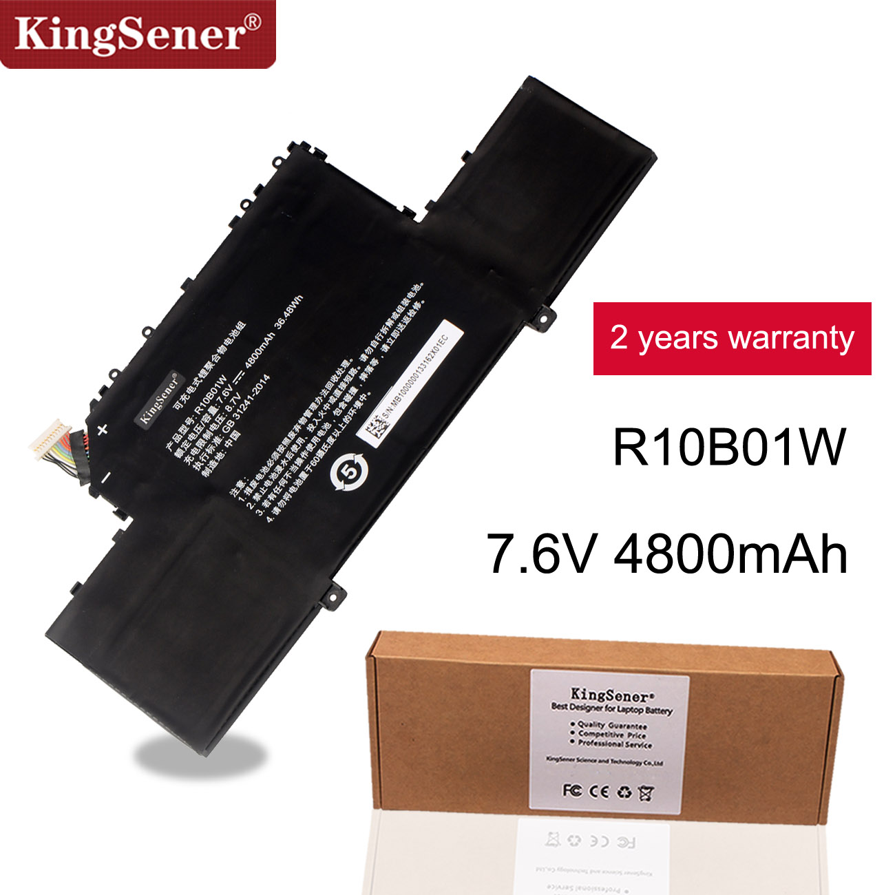 KingSener R10B01W R10BO1W Laptop Battery For Xiaomi Mi Air 12.5
