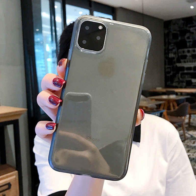 Lovebay الملونة شفافة المضادة للصدمات إطار الهاتف حقيبة لهاتف أي فون 11 برو X XR XS ماكس 7 8 6 6s زائد لينة غطاء للحماية من البولي يوريثان