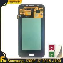 Pantalla LCD Super AMOLED para Samsung Galaxy J7 2015, J700, J700F, montaje de digitalizador con pantalla táctil para Samsung J700, J700H, J700M