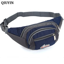 QIUYIN Waist Bag Male Funny Pack New Mens Waterproof Oxford Belt For Man Zipper Travel Chest